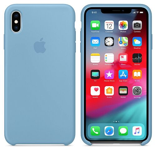 Чехол Silicone Case для Apple iPhone XS (Cornfiower) HC