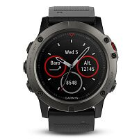 Смарт-часы Garmin Fenix 5X Slate Gray Sapphire with Black Band (010-01733-01/14)