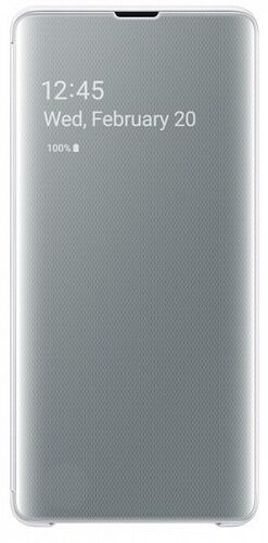 Чехол-книжка Clear View Cover Case для Samsung Galaxy S10 Plus G975 (EF-ZG975CWEGRU) White
