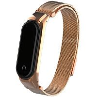 Ремешок металлический ArmorStandart Metal Magnetic Milanese Band для Xiaomi Mi Band 4 (Rose Gold)