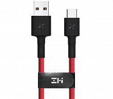 Кабель ZMi AL431 USB - Type-C 2m Red (Kevlar)