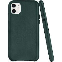 Чехол Leather Case для Apple iPhone 11 (Forest Green) HC