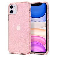 Чехол Spigen Liquid Crystal Glitter Case для Apple iPhone 11 (Rose Quartz)