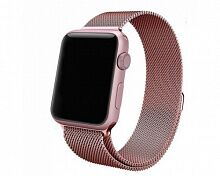 Ремешок Milanese Loop Magnetic Band для Apple Watch 38mm (Rose Pink)