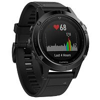 Смарт-часы Garmin fenix 5 Black Sapphire with Black Band (010-01688-11)