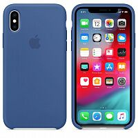 Чехол Silicone Case для Apple iPhone XS (Delft Blue) HC