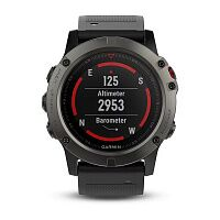 Смарт-часы Garmin Fenix 5X Plus Sapphire Black with Black Silicone (010-01989-64)