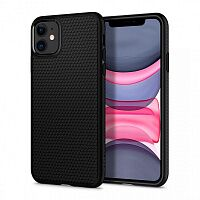 Чехол Spigen Liquid Air Case для Apple iPhone 11 (Matte Black)