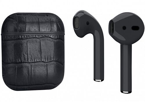 Наушники Apple AirPods Crocodile Leather Black (MV7N2)