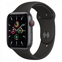 Apple Watch SE GPS + Cellular 44mm Space Gray Aluminum Case with Black Sport B. (MYER2)
