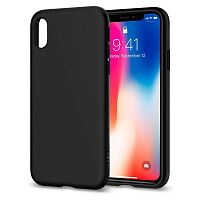 Чехол Spigen Liquid Crystal Case для Apple iPhone X (Matte Black)