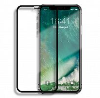 Защитное стекло IPH 5D Full Cover Tempered Glass для Apple iPhone X (Black)