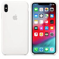 Силиконовый чехол Apple Silicone Case HC (White) для iPhone XS Max