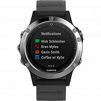 Смарт-часы Garmin fenix 5 Black Silver with Black Band Silver (010-01688-03)