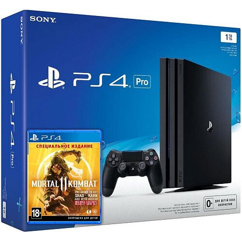 Игровая приставка Sony PlayStation 4 Pro 1TB + Mortal Kombat 11 Special Edition