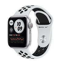 Apple Watch Nike Series 6 GPS 40mm Silver Aluminum Case w. Pure Platinum/Black Nike Sport B. (M00T3)