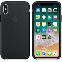 Силиконовый чехол Apple Silicone Case HC (Black) для iPhone XS Max