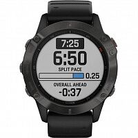 Смарт-часы Garmin Fenix 6 Pro Sapphire Сarbon Grey DLC with Black Band (010-02158-11)