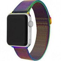 Ремешок Milanese Loop Magnetic Band для Apple Watch 38mm (Rainbow)