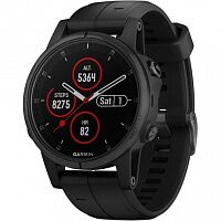 Смарт-часы Garmin Fenix 5S Plus Sapphire Black with Black Band (010-01987-03)