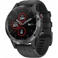 Смарт-часы Garmin Fenix 5 Plus Sapphire Black with Black Band (010-01988-01)