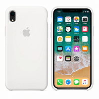 Чехол Apple iPhone XR (6.1) Silicone Case HC (White)