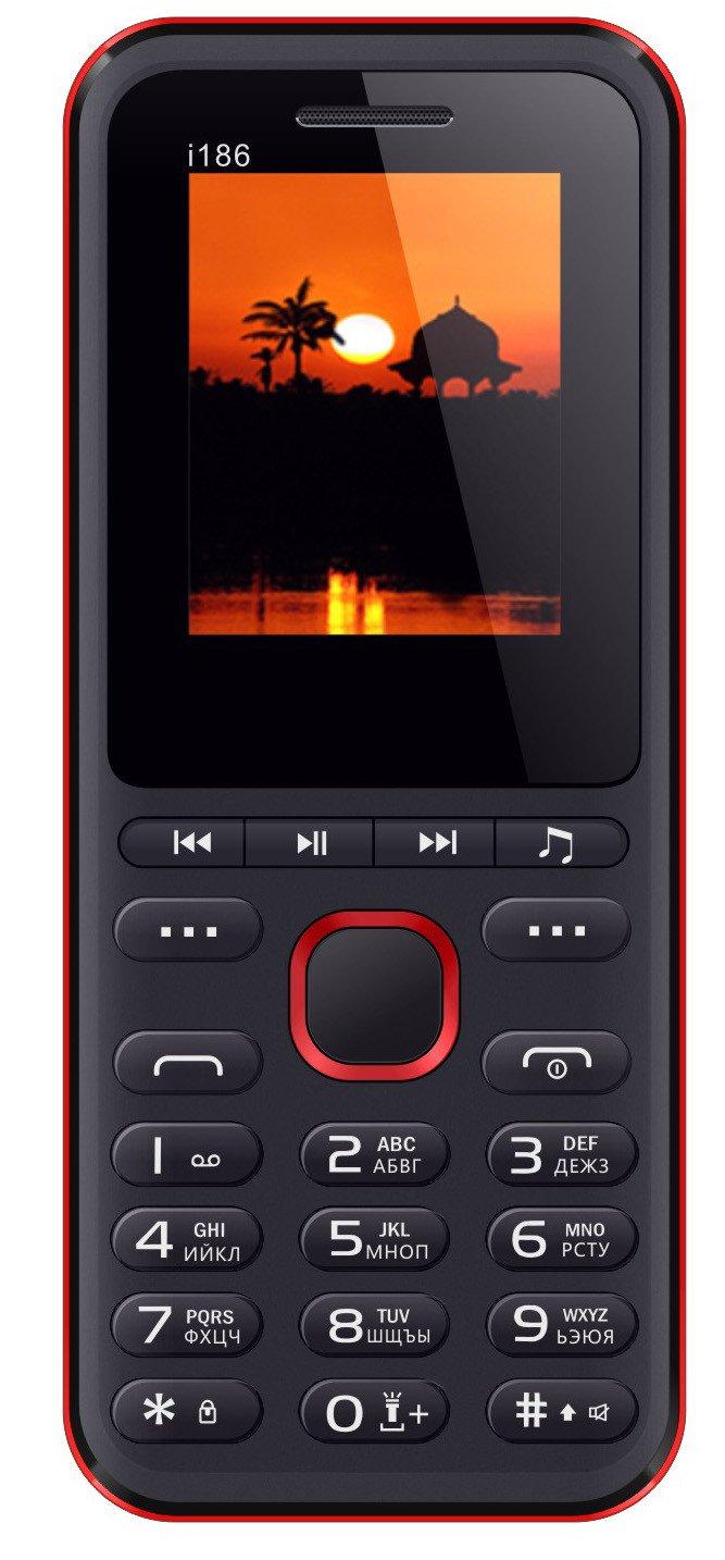 Купить Мобильный телефон Nomi i186 (Black-Red)
