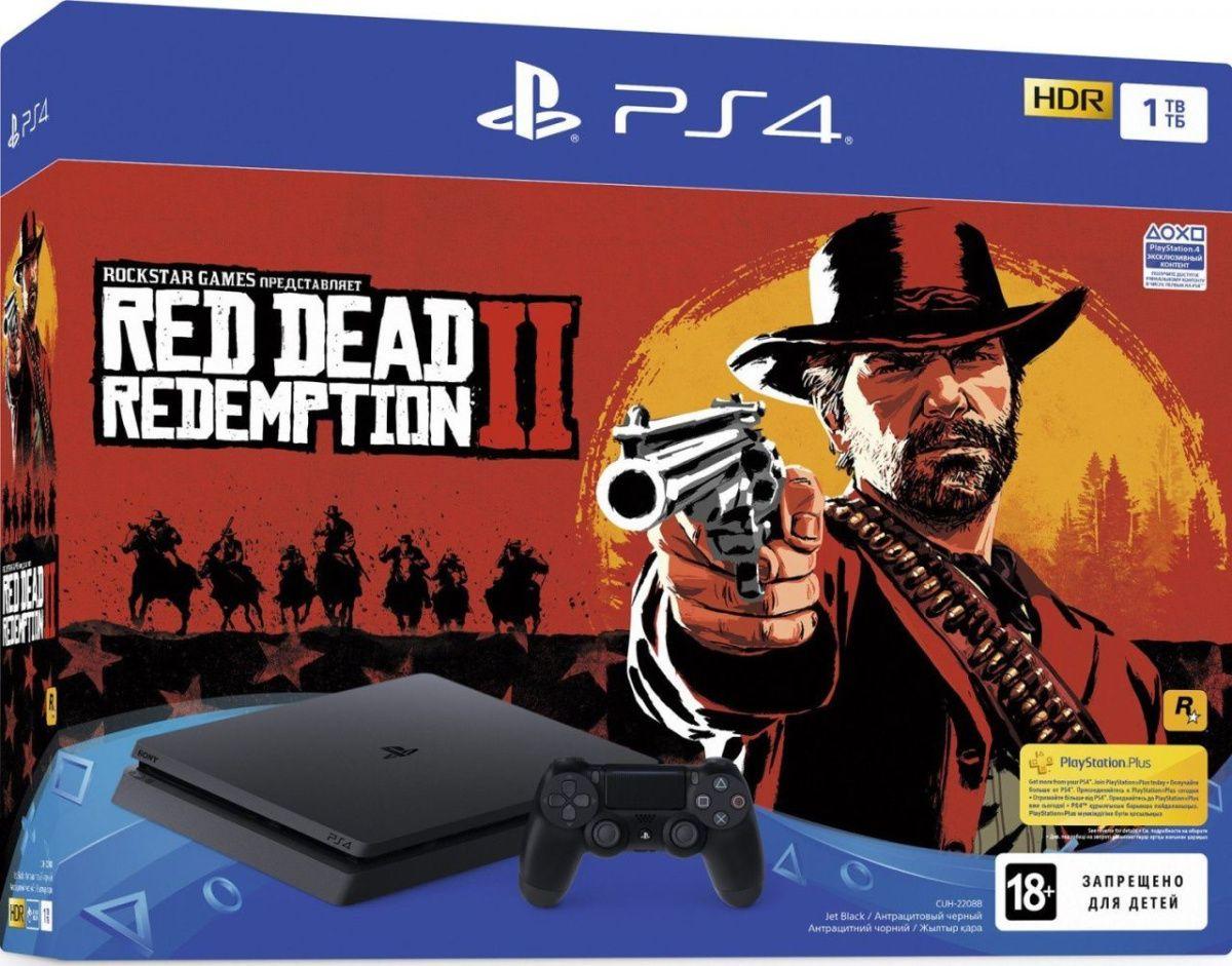 Купить Игровая приставка Sony PlayStation 4 Slim 1TB + Red Dead Redemption 2
