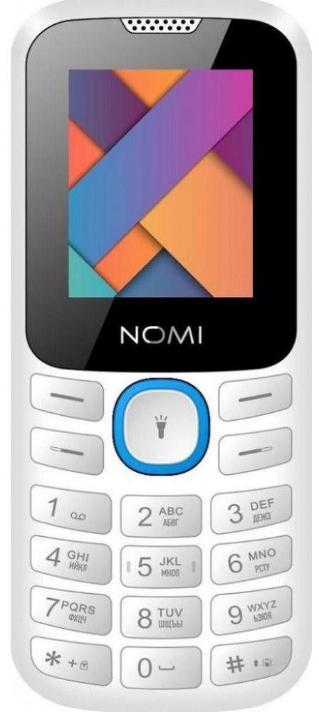 Купить Мобильный телефон Nomi i184 (White-Blue)