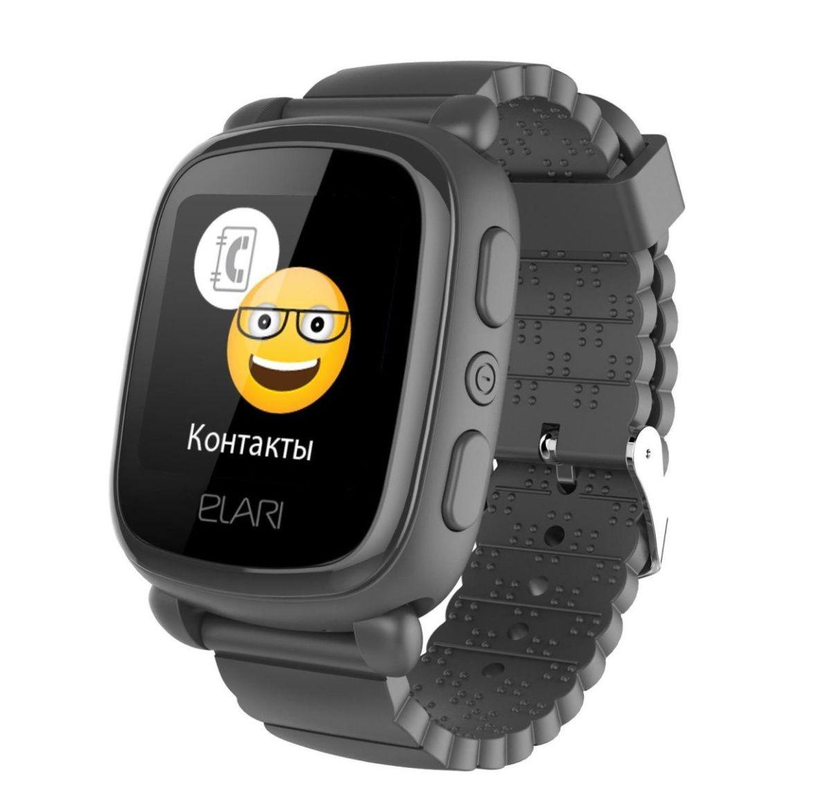 Купить Смарт-часы и фитнес-браслеты, Детские умные часы ELARI KidPhone 2 Black GPS (KP-2B) UA