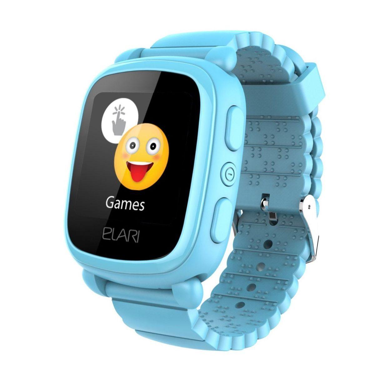 Купить Смарт-часы и фитнес-браслеты, Детские умные часы ELARI KidPhone 2 Blue GPS (KP-2BL) UA