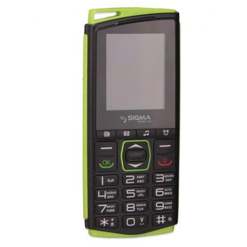Купить Мобильный телефон Sigma Comfort 50 mini 4 (Black-Green) UA-UCRF, Sigma mobile