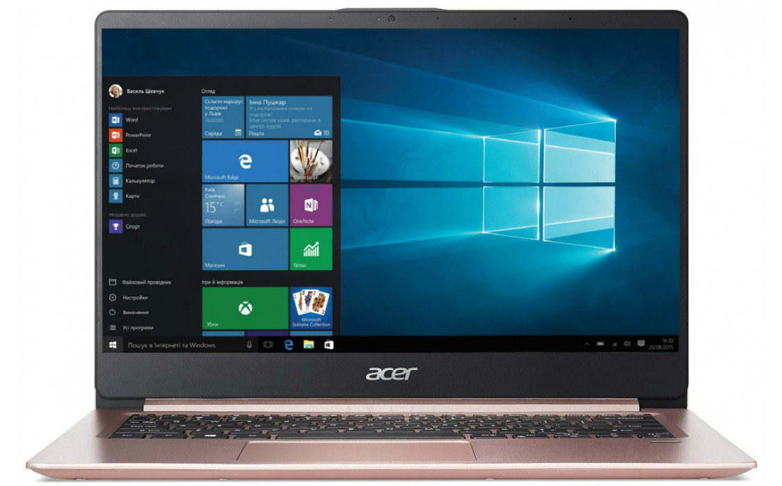 Ноутбук Acer Swift 1 SF114-32-P2J0 Pink (NX.GZLEU.008)