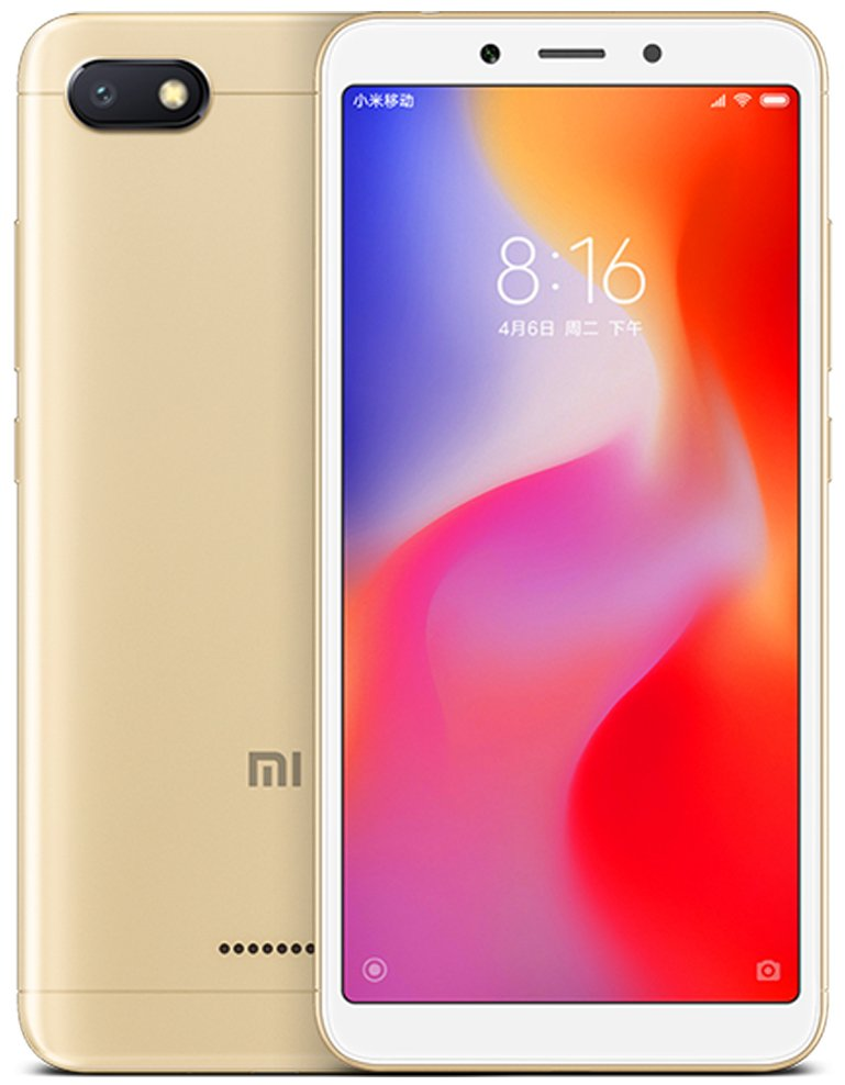 Смартфон Xiaomi Redmi 6A 2/16Gb (Gold) Global EU