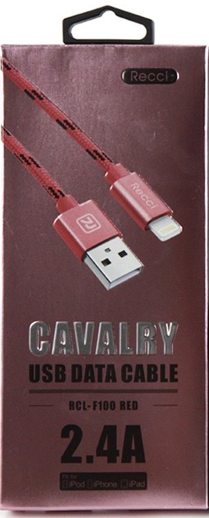 Купить Кабель Recci Cavalry RCL-F100 Lightning 1m (Red)