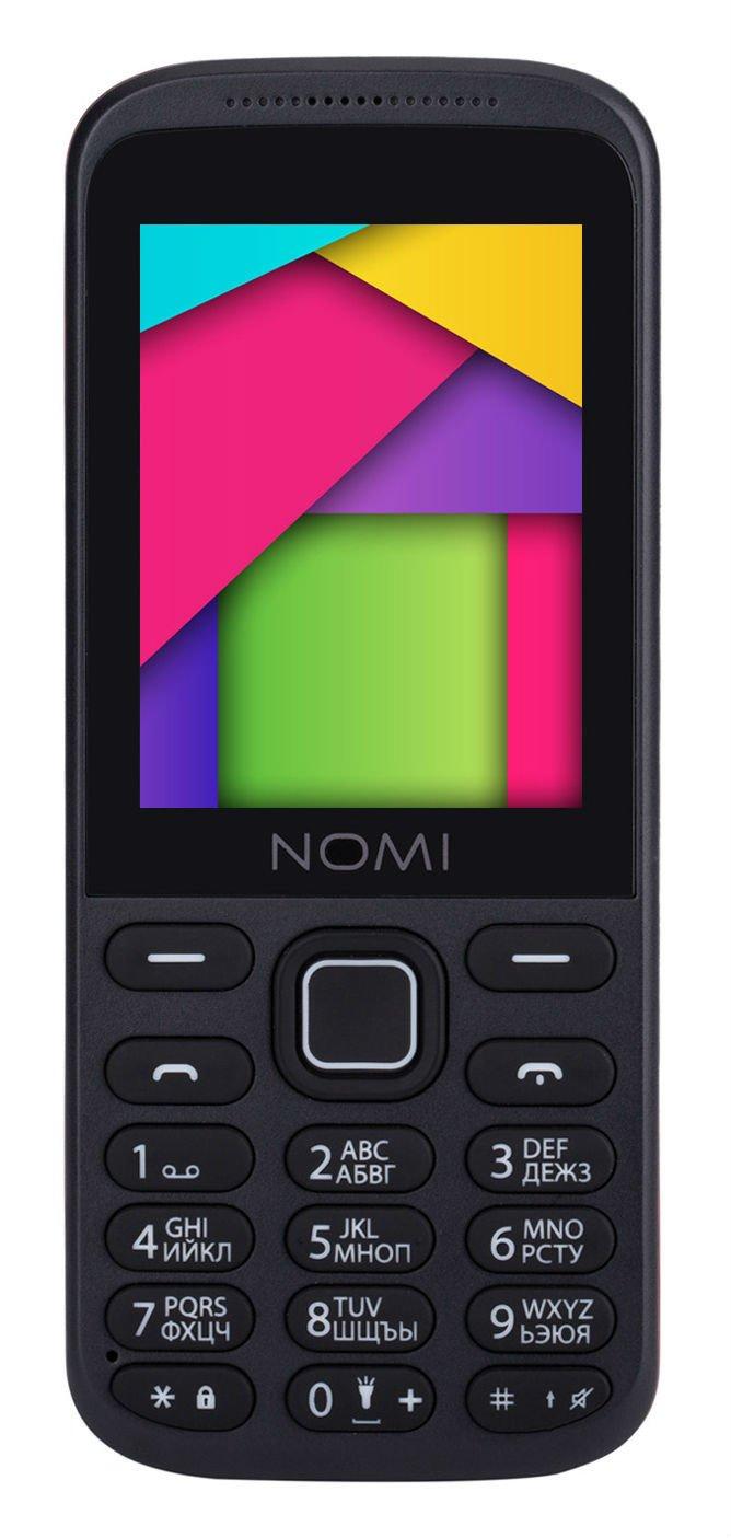 Купить Мобильный телефон Nomi i244 (Black-Red)