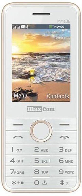Купить Мобильный телефон Maxcom MM136 (White-Gold) UA-UCRF
