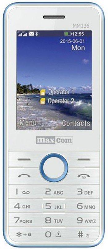Купить Мобильный телефон Maxcom MM136 (White-Blue) UA-UCRF