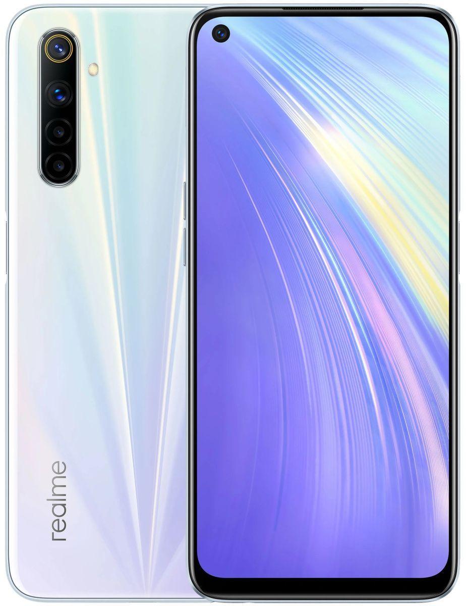 Смартфон Realme 6 4/128GB (White) UA-UCRF