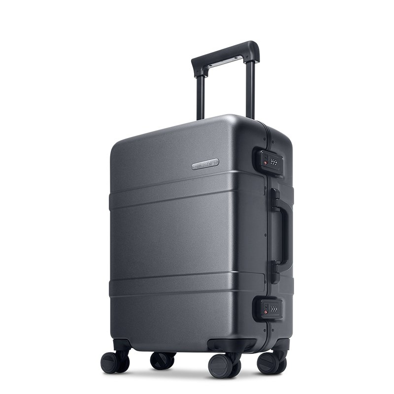 Чемодан Xiaomi RunMi 90 Points Classic Aluminum Box Suitcase Dark  Grey Magic Night 24""