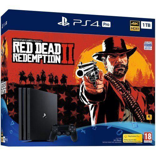 Купить Игровая приставка Sony Playstation 4 Pro 1TB + Red Dead Redemption 2