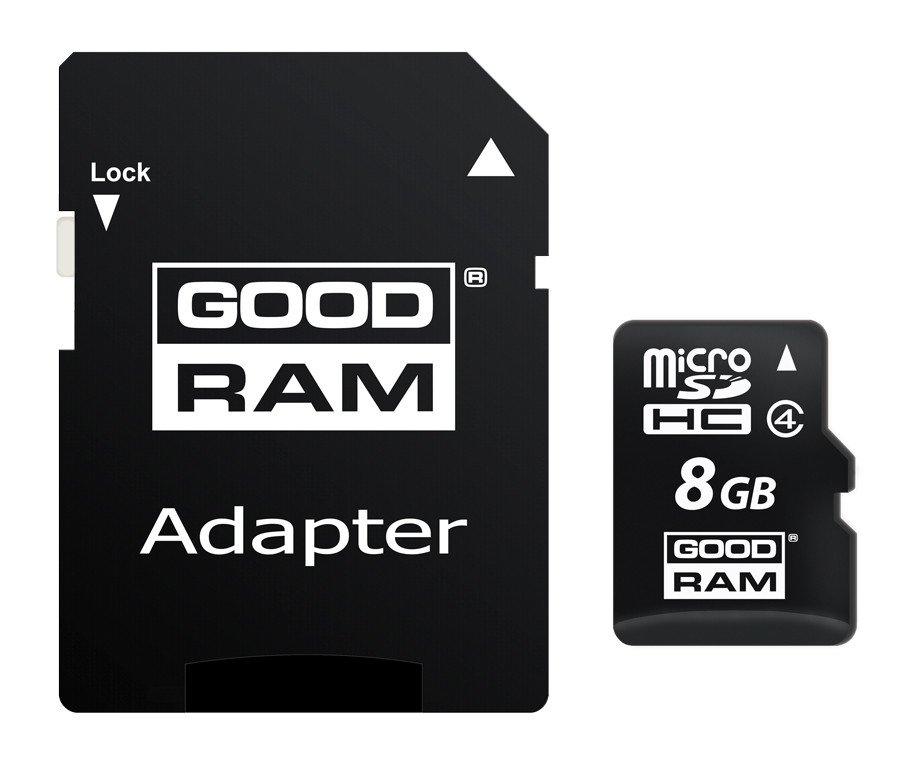 Карта памяти Goodram MicroSDHC 8GB Class 4 + SD-adapter (M40A-0080R11)