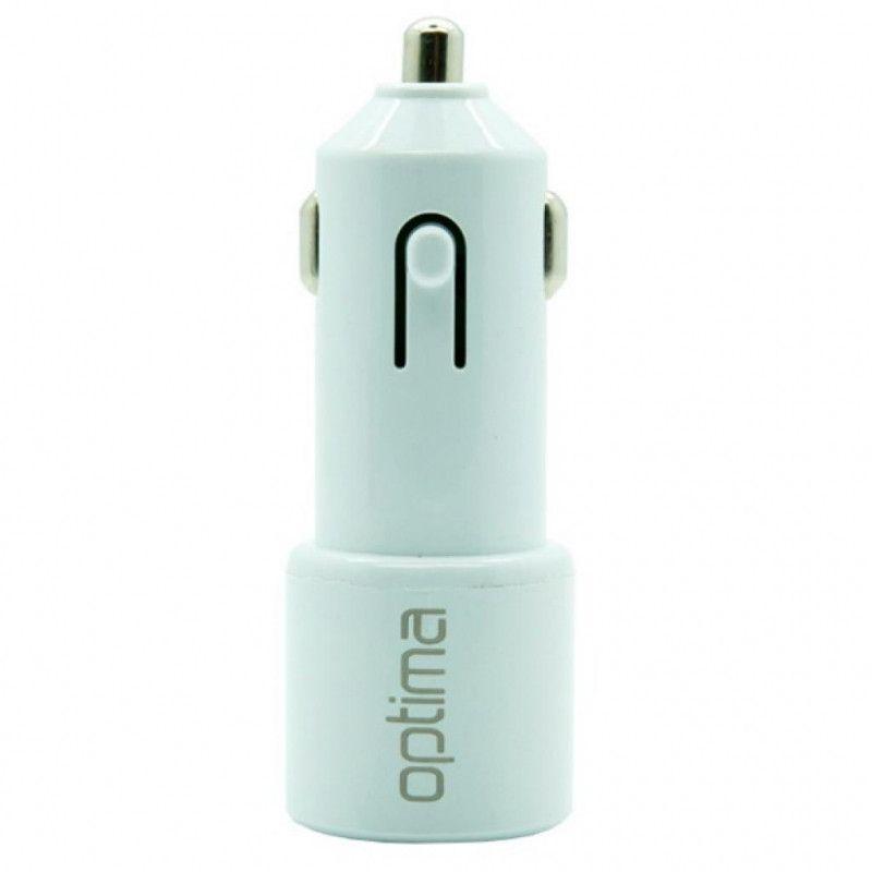 Купить Зарядные устройства, Автомобильное зарядное устройство Optima 2USB 2.1A Charger (White)