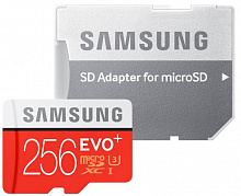 Карта памяти Samsung microSDHC 256GB EVO Plus UHS-I Class 10 + SD adapter (MB-MC256GA/RU)