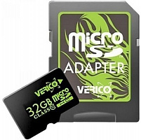 Карта памяти VERICO 32 GB microSDHC Class 10 + SD adapter