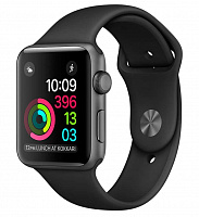 Apple Watch Series 3 GPS 38mm Space Gray with Black Sport Band (MTF02)