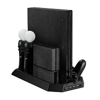 Вертикальная подставка для PS4 Pro Multifunction Vertical Stand Holder with Dual Controller Charger 3.0
