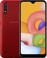 Смартфон Samsung Galaxy A01 2/16GB Red (SM-A015FZRD) UA-UCRF
