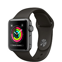 Apple Watch Series 3 GPS, 38mm Space Gray Aluminum Case with Gray Sport Band MR352