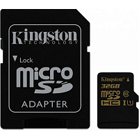 Карта памяти Kingston 32 GB microSDHC class 10 UHS-I + SD Adapter SDCA10/32GB